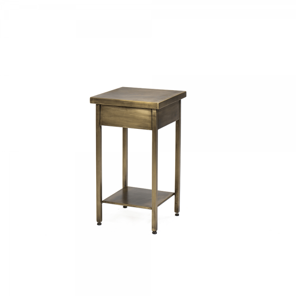 Black Iron/Brass Side Table #3-003