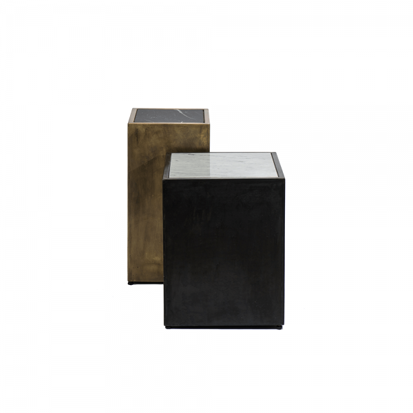 Marble-Embedded Side Table #3-033