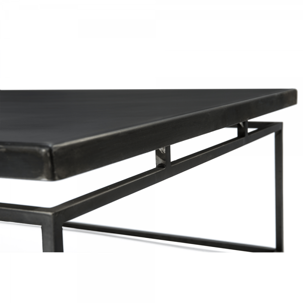 Living Room Table with Floating Black Iron/Concrete Surface #3-084