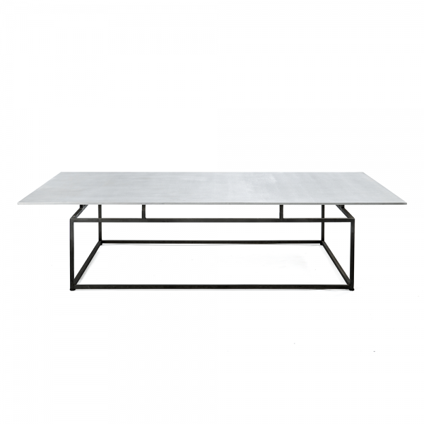 Living Room Table with Floating Textured Aluminum Surface #3-084B