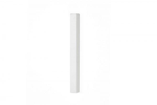 White matte Rectangular Mezuzah For 12-cm Scroll