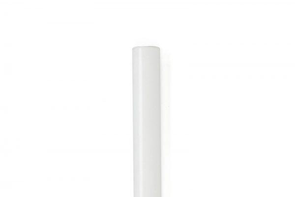 White matte Tubular Mezuzah For 12-cm Scroll