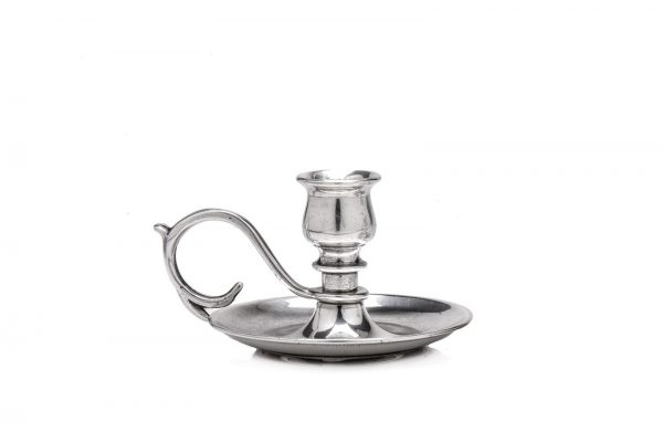 Silver plated small candlestick