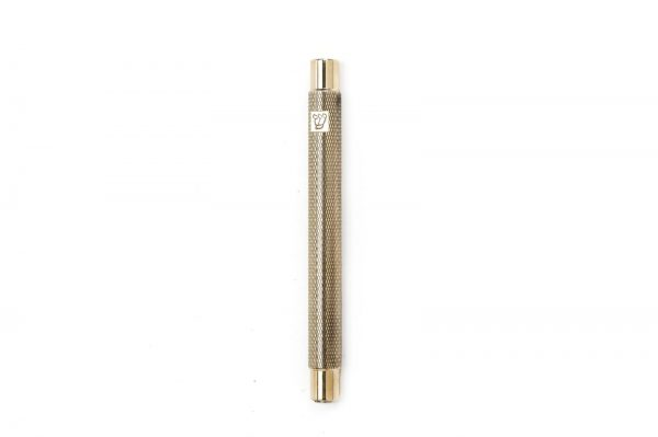 """Shiny brass Engraved Mezuzah for 12-cm Scroll with Engraved """"shin"""""""