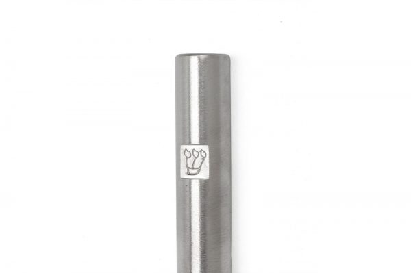 """Nickel matte Tubular Mezuzah For A 12 CM Scroll And a Engraved """"Shin"""""""