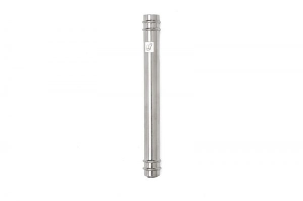 """Nickel matte Mezuzah with Rings for 12-cm Scroll with Engraved """"Shin"""""""