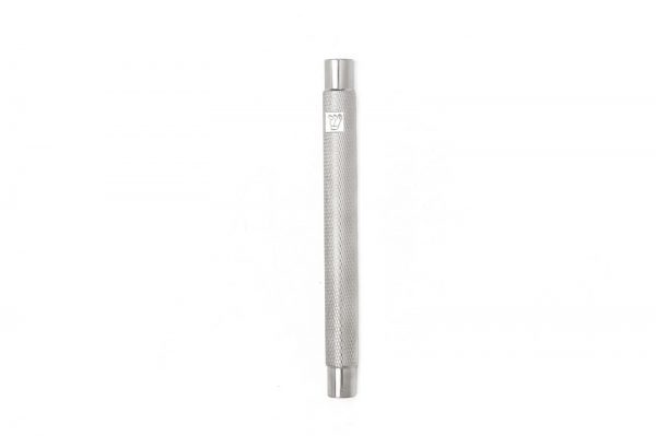 """Nickel matte Engraved Mezuzah for 12-cm Scroll with Engraved """"shin"""""""