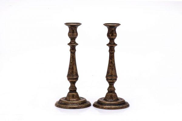 Antique brass large candlesticks