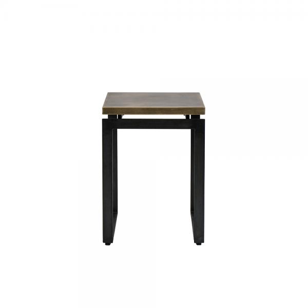 שולחן צד עם משטח פליז #3-045