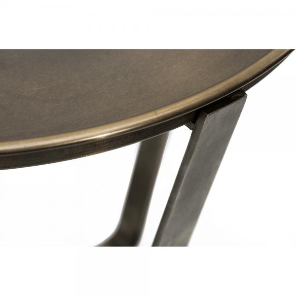 שולחן צד עגול עם מגש מפליז #3-029