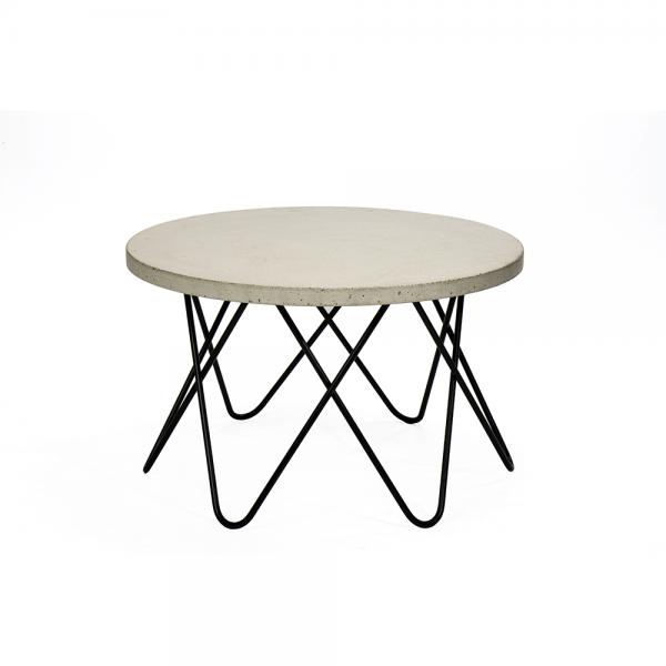 #3-009C שולחן עגול עם משטח בטון