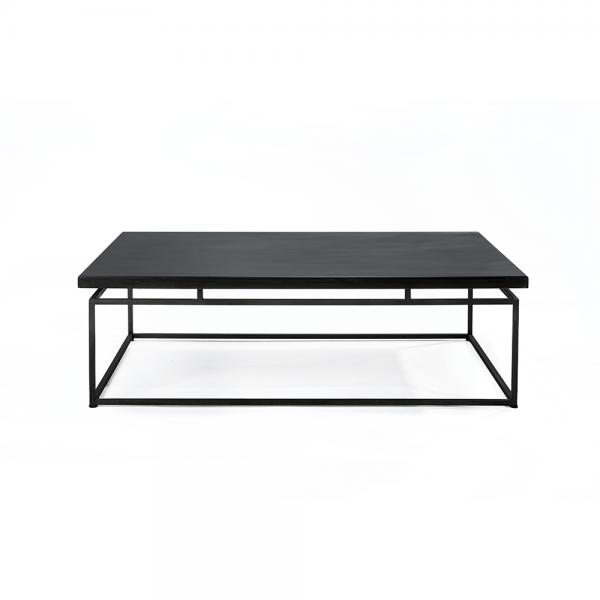 שולחן סלון #3-084 עם משטח ברזל שחור/בטון