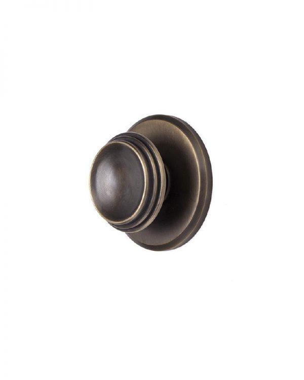 #5-092 כפתור אחיזה סטטי על פלטה עם חריטה