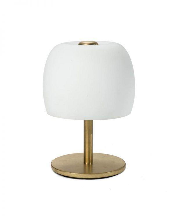 #2-025 מנורת שולחן פטריה מפליז מט