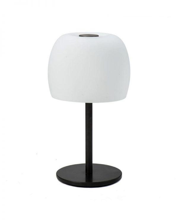 #2-025A מנורת שולחן פטריה בפליז כהה