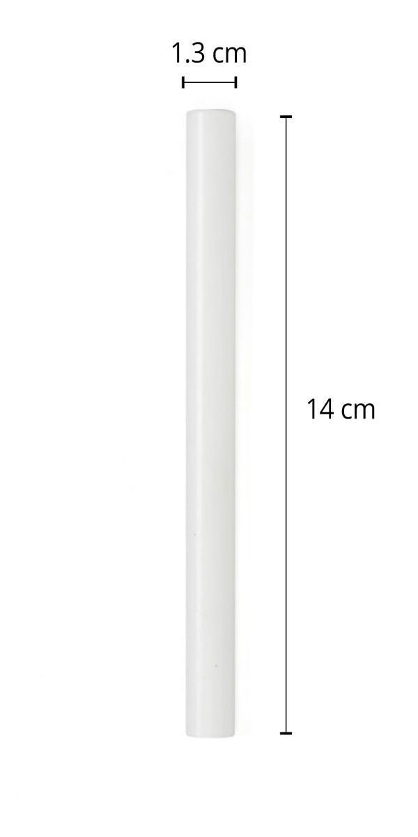 """מזוזה צינורית לקלף 10 ס""""מ בצבע לבן מט"""
