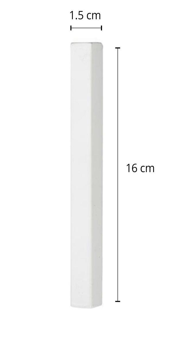 """מזוזה מלבנית לקלף 12 ס""""מ בצבע לבן מט"""