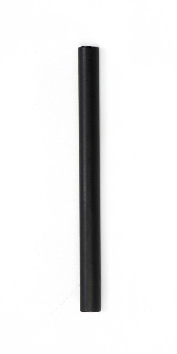 """#9-530 מזוזה צינורית לקלף 10 ס""""מ בצבע שחור מט"""