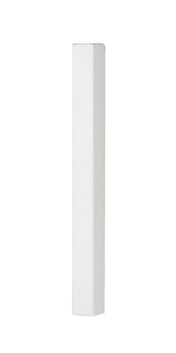 """#9-525 מזוזה מלבנית לקלף 12 ס""""מ בצבע לבן מט"""