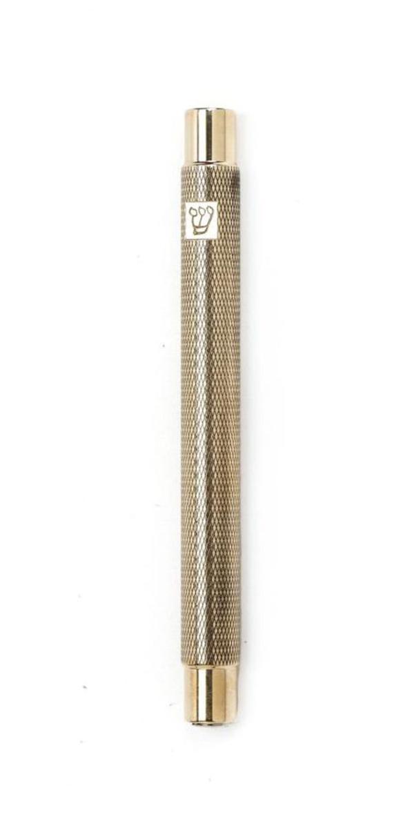 """#9-554 מזוזה עם חריטות לקלף 12 ס""""מ עם """"ש"""""""