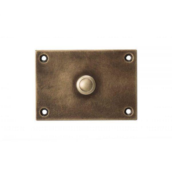 #8-940 לחצן פעמון כניסה לבית בקו נקי, מפליז בגימור מיושן
