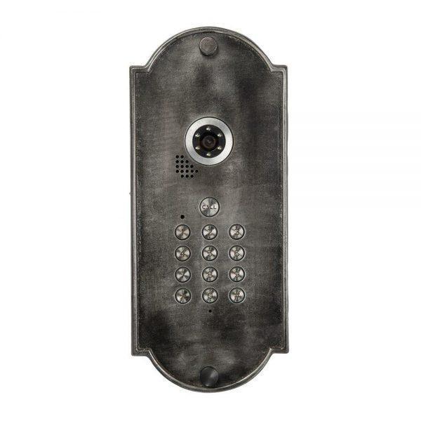 #8-927 פאנל אינטרקום לכניסה לבית מאלומיניום מושחר