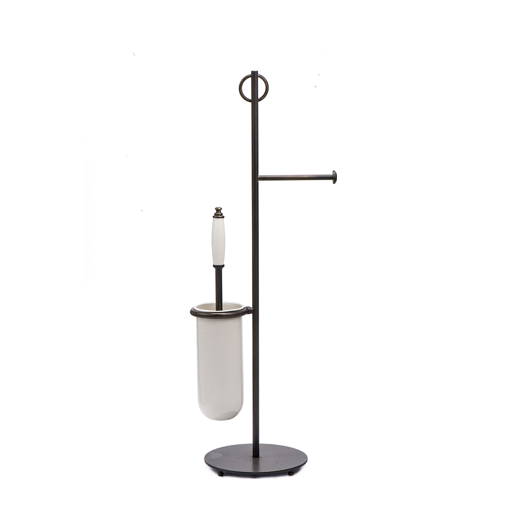 Toilet Brush And Paper Stand With A Round Base #7-614 - Artigiani ...
