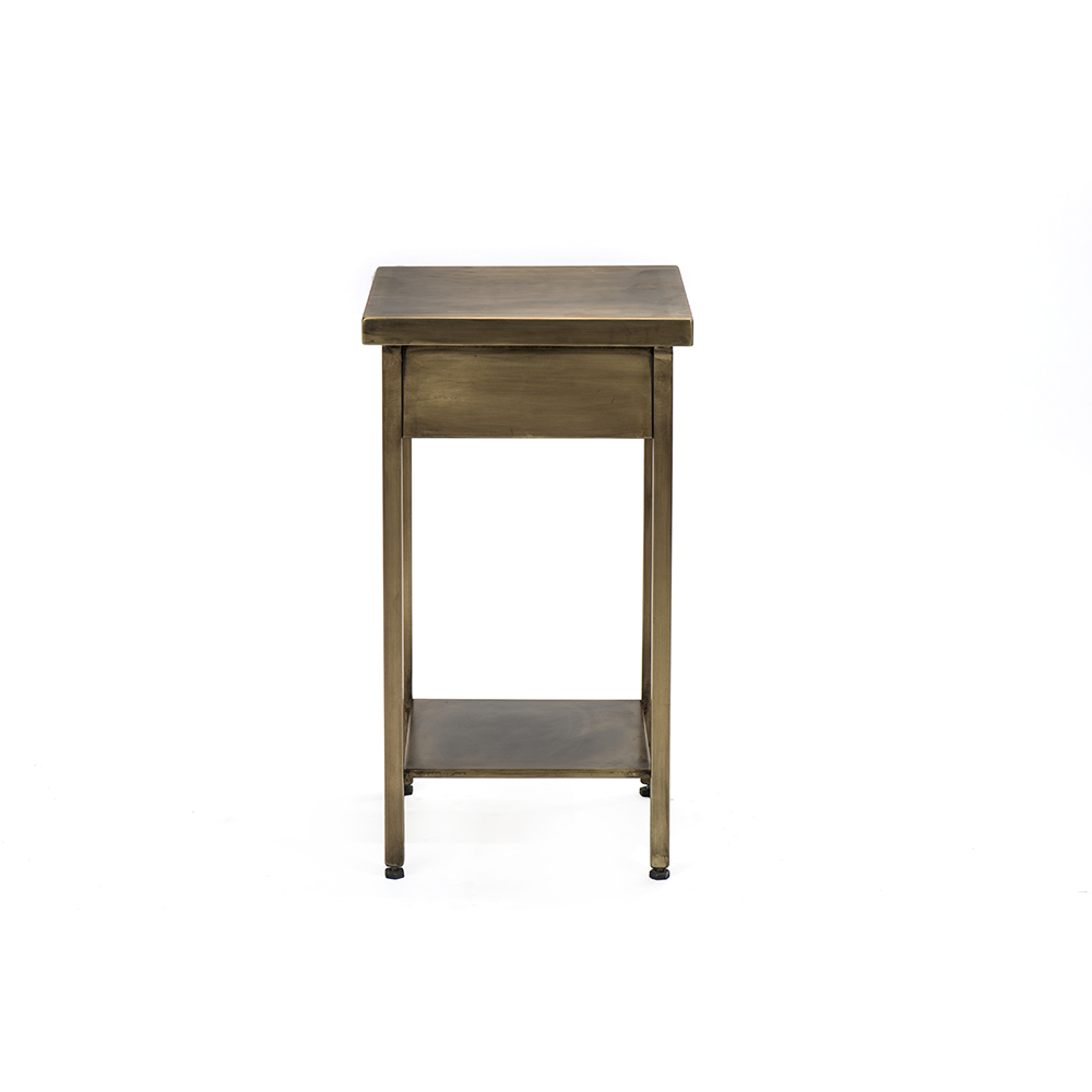 Black IronBrass Side Table Artigiani Designs - Black and brass side table